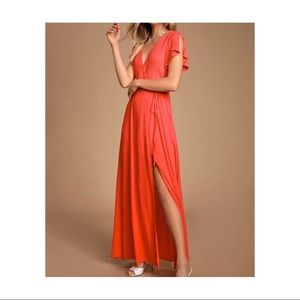 Lulus heart of gold Maxi dress